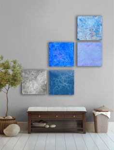 April rain Large Abstract art Painting  5 square by TwistOfUnique, $200.00