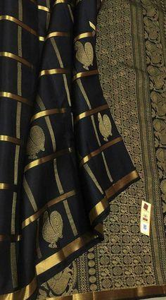 Latest Silk Sarees, Pure Silk Sarees, Black Thunder, Wedding Silk Saree, Pure Products, Collection, Blouses, Blouse, Woman Shirt