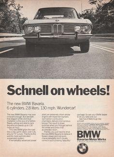 1969-1975 BMW Bavaria - Schnell on wheels! - vintage ad