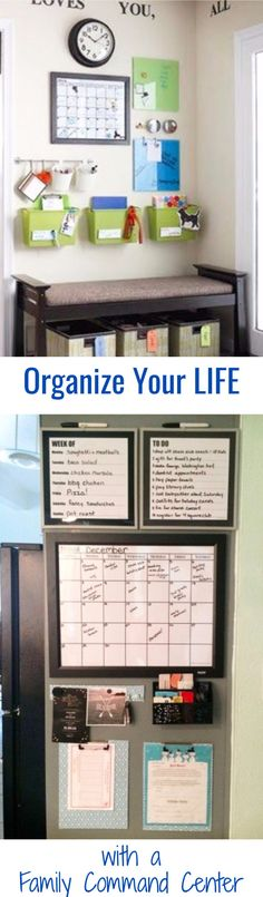 Awesome Life Hack!  Make a Family Command Center - DIY Family Command Center ideas