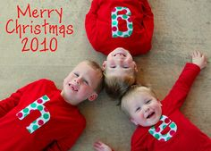 Christmas initial t-shirts for all the kids?  @Dianne Fix