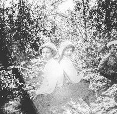 Rare photo of Grand Duchesses Olga and Tatiana Nikolaevna of Russia c. 1911. by historyofromanovs