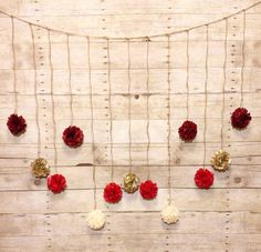 DIY Holiday Red Burgundy Cream and Gold Tissue by giddy4paisley, $17.00
