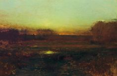 """""""The Fading Light,"""" Bruce Crane, oil on canvas, 19 3/4 x 30"""", private collection."""