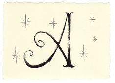 Hand drawn letters A