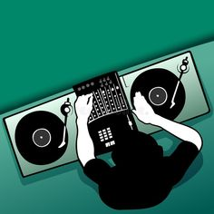 Illustration about DJ job - Coloured vector illustration. Illustration of fade, lights, dance - 1797254 Event Flyers, Job, Illustration, Company Logo, Entertaining, Graphic Design, Dance, Pattern, Fictional Characters