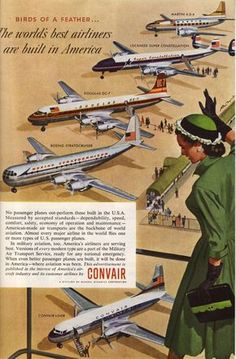 Retro Ad of the Week: Convair, 1954 #NationalAviationDay