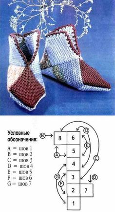 Image gallery – Page 564920347006515577 – ArtofitSuper Easy Slippers to Crochet or to Knit Knitting Loom Socks, Knitting Books, Knitted Slippers, Crochet Slippers, Easy Knitting, Knitting Stitches, Knitting Patterns, Crochet Patterns, Crochet Motifs