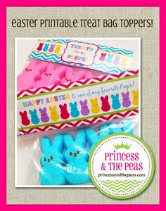 FREE Easter Printables | Treat Bag Toppers | Easter Party Favors  #printables #freeprintables #easter