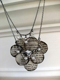 Book page necklace...tutorial