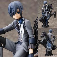 31.97$  Buy here - http://aiyut.worlditems.win/all/product.php?id=32362833510 - Black Butler Book of Circus Kuroshitsuji Ciel PVC Action Figure Collectible Model Toy 18cm KT052