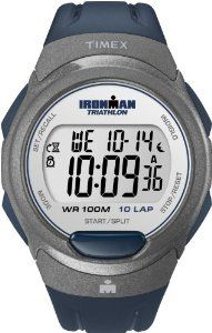 Timex Men's T5K610 Ironman Traditional 10-Lap Blue Resin Strap Watch Timex. $28.05. Indiglo® night-light. Water-resistant to 330 feet (100 M). 24-Hour Countdown Timer with Stop and Repeat. 100-Hour Chronograph with Lap and Split Times, 99-Lap Counter. 10-lap memory recall for effortless review after workout. Save 35%!