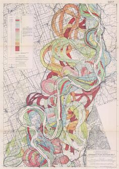 New item in my etsy shopAncient Courses of the Misissippi River Meander Belt Sheet 2 geological survey map vintage reproduction 1943 by PanchromaticaDesigns. Find it here http://ift.tt/2f5xp9y