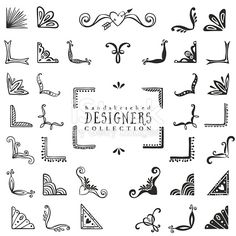 Hand drawn vector design elements.