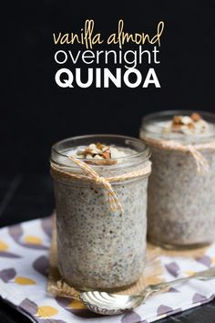Overnight Quinoa Vanilla Almond Overnight Quinoa - gluten-free, vegan and sugar-free!:Vanilla Almond Overnight Quinoa - gluten-free, vegan and sugar-free! Breakfast And Brunch, Breakfast Recipes, Perfect Breakfast, Quinoa Breakfast Bowl, Sugar Free Breakfast, Paleo Breakfast, Overnight Quinoa, Quinoa Oatmeal, Overnight Breakfast