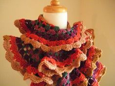 spring crafts: colorful scraves, free crochet patterns | make handmade, crochet, craft