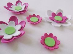 7 3d foam flowers ideal for foam crafts fofuchas by FofuchasDolls, $2.00