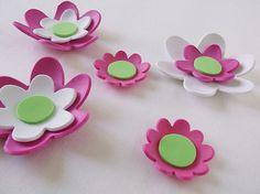 7 3d foam flowers ideal for foam crafts fofuchas by FofuchasDolls, $2.00