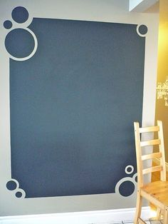 Chalk board paint wall for Jack's room. Would be smaller than this though.