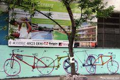 Street Art bicis BsAs
