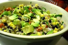Jazz in the Kitchen's southwestern quinoa salad with chipotle vinaigrette - tons of nutritional benefits in this one!