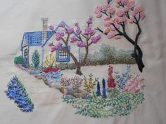 Cross stitch, embroidery, kitties and our life in our home surrounded by hayfields.