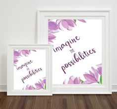 Imagine The Possibilities Wall Art Quote by BubblewaterDesigns