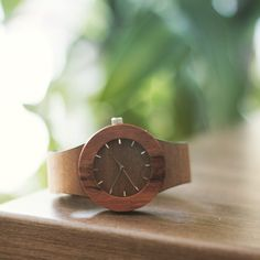 Wooden watches - makore & red sanders at analogwatchco.com #analogwatchco