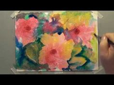How To: Dandelion watercolor painting using Alcohol droplets - YouTube