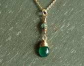 Emerald Necklace, May birthday, precious gemstones,  natural genuine emeralds, emerald pendant, 14K goldfilled, chain, real emerald jewelry  https://www.etsy.com/shop/bluegreenjewels