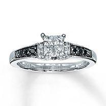 Diamond Engagement Ring 1/2 ct tw 10K White Gold $1199