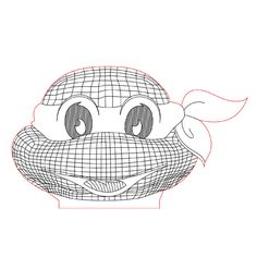 Turtle ninja head illusion light plan vector file for CNC - 3d Illusion Art, Laser Cutter Projects, Blender Tutorial, 3d Cnc, Wood Burning Patterns, Lampe Led, Led Night Light, Distortion, Scroll Saw