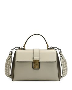 Bottega Veneta Piazza Medium Colorblock Leather Top-Handle Bag 279fb02e09