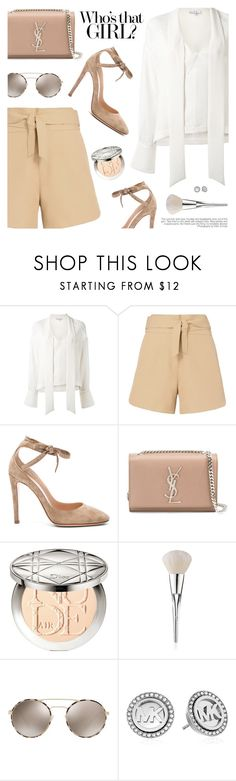 """Preppy Chic"" by pokadoll ❤ liked on Polyvore featuring IRO, Gianvito Rossi, Yves Saint Laurent, Christian Dior, Prada, Michael Kors, polyvoreeditorial and polyvoreset"