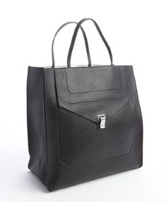 Proenza Schouler black leather 'PS1' convertible tote bag - was $1645.0, now $1395.0 (15% Off). Picked by olga @ Bluefly
