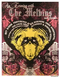 for The Melvins by Seldon Hunt. Concert Posters, Movie Posters, Tour Posters, Music, Prints, Art, Musica, Art Background, Musik
