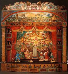 "vintagehandsomemen: ""  A Child's View: 19th-Century Paper Theaters (SEE VIDEO & HERE) """