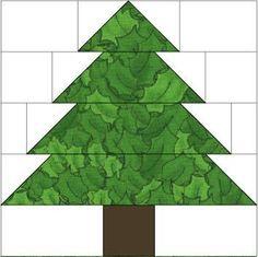 Vianočný strom Quilt Block Maureen Cohen
