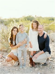 Desert Family Session on film by fine art Scottsdale family photographers Brushfire Photography in Arizona.