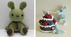 Zoomigurumi - A Crochet book by Amigurumipatterns.net...I love the little mice on the cake!