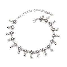Silver Luxury Fashion Flower Bohemian Vintage Ankle Chain Bracelet Beach Wedding Foot Jewelry Barefoot Sandal Anklet Chain for Women and Girls 2pcs * See this great product. (As an Amazon Associate I earn from qualifying purchases) Anklet Bracelet, Anklets, Bracelets, Ankle Chain, Bare Foot Sandals, Vintage Bohemian, Flower Fashion, Luxury Fashion, Fashion Jewelry
