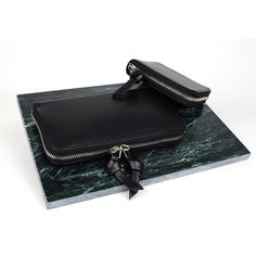 SAGAN Vienna black leather wallets with signature knotted puller. Leather Wallets, Vienna, Zip Around Wallet, Black Leather, Bags, Black Patent Leather, Handbags, Totes, Leather Purses