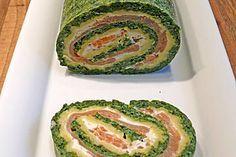 Lachsrolle mit Spinat