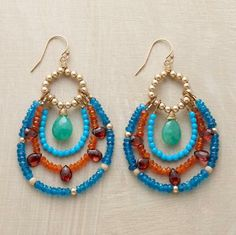 Love these earrings! They look pretty simple to make, too.