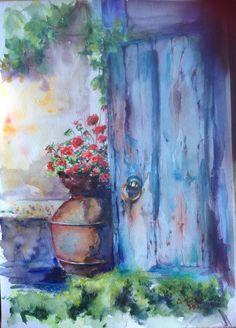 Watercolor by Ela Rusu ( România ) Facebook Sign Up, Watercolor, Painting, Art, Pen And Wash, Art Background, Watercolor Painting, Watercolour, Painting Art