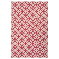 Blithe Red/Taupe Geometric Area Rug