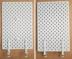 Ikea hack: How to create a mobile pegboard storage unit from the Raskog cart and Skadis pegboard « infectiousstitches Pegboard Ikea, Pegboard Craft Room, Pegboard Storage, Ikea Craft Room, Pegboard Display, Sewing Room Storage, Kitchen Pegboard, Sewing Room Organization, Ikea Storage