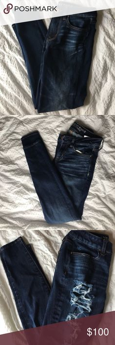 Jeans - AEO NWOT Bundle of three pairs of American Eagle jeans  Size: Size 2 (x3)  Style: Short  Super stretch, and 360 super stretch $225 value! American Eagle Outfitters Jeans Skinny