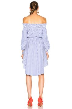 Caroline Constas Lou Dress in Royal Blue   FWRD
