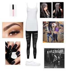 """""""Hanging out with the ladies on the gym."""" by blackandblue7 on Polyvore featuring moda, Lancôme, Boohoo, Splendid, Vans, Express, WWE e gym"""